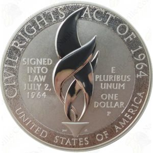 2014 Civil Rights Act of 1964 Commemorative Silver Dollar - Proof