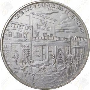 Highland Mint 1 oz .999 fine silver Prospector round
