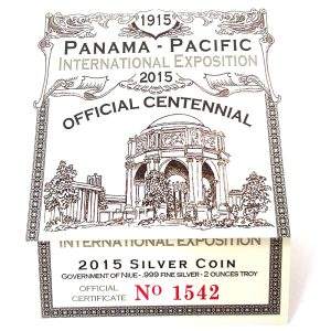 2015 Niue $2 Gilt Panama-Pacific Commemorative - NCC PF69 Ultra Cameo