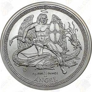 2014 Isle of Man 1 oz .999 fine silver Angel