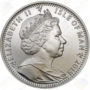 2015 Isle of Man 1 oz .999 fine silver Angel