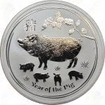 2019 Australia Lunar Series II 2 oz Silver Year of the Pig