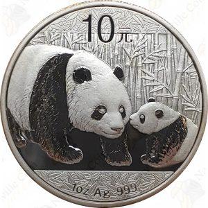 2011 China 1 oz .999 fine silver Panda - Uncirculated (in capsule)