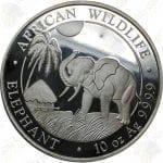 2017 10 oz Somalia Elephant -- 10 oz .9999 Fine Silver