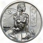 """Elemetal """"Egyptian Gods"""" Series 2 oz .999 fine silver round -- Cleopatra"""