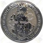 2018 Great Britain Queen's Beasts Unicorn of Scotland -- 2 oz .9999 fine silver