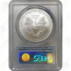 2009 American Silver Eagle, 1 oz .999 fine silver, PCGS MS70 First Strike