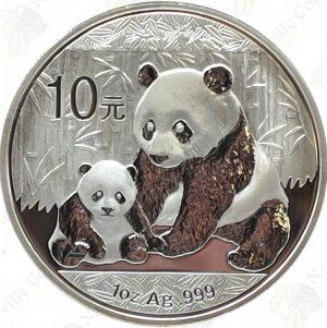 2012 China 1 oz .999 fine silver Panda - Uncirculated (in capsule)