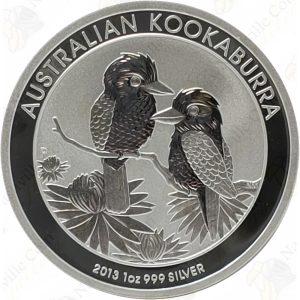 2013 Australia 1 oz .999 fine silver Kookaburra