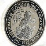 1993 Australia 1 Kilo .999 fine silver Kookaburra