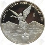 2005 Mexico 5 oz Proof Silver Libertad