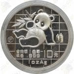 1989 China 1 oz .999 fine silver Panda - Proof (in capsule)