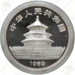 1989 China 1 oz .999 fine silver Panda - Proof (in capsule)