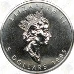 1995 Canada $5 1 oz silver Maple Leaf -- Uncirculated