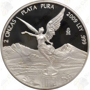 2009 Mexico 2 oz Proof Silver Libertad