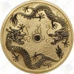 2020 Australia $100 1 oz Gold Double Dragons