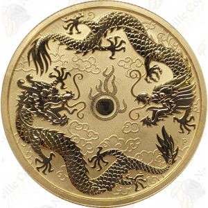 2020 Australia $100 1 oz Gold Double Dragons