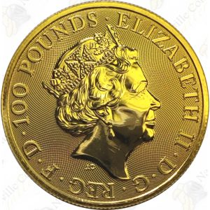 2020 Great Britain Queens Beasts 1 oz .9999 fine gold White Horse of Hanover